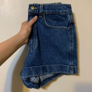 American Apparel Cuff Denim Shorts (Size 27)